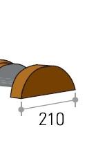 Tile Roof, Roll top Ridge End Cap