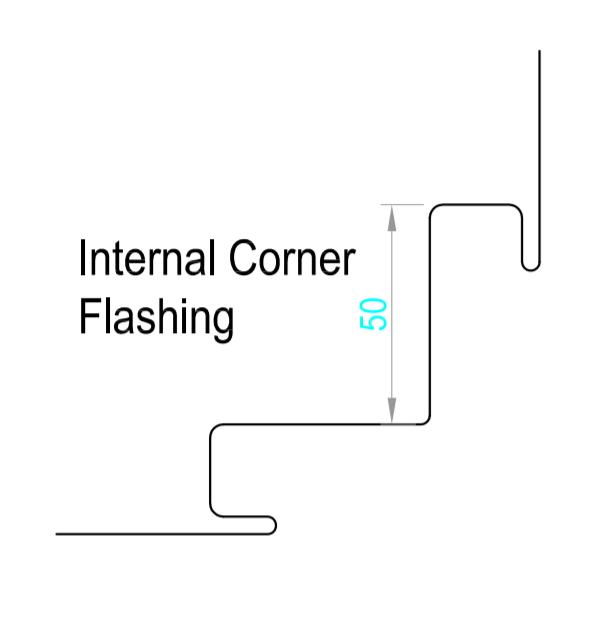 Internal Corner 2 ( Aluminium – Traditional Textures G2 )