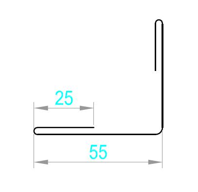 Internal Corner Flashing (Coated Aluminium G2)