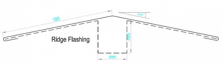 Ridge Flashing (Coated Aluminium G1)